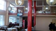 Diseño integral restaurante barandal de tres plantas y fachada en briviesca burgos