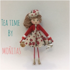 Broche muñeca tea time