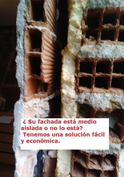 Tenemos soluciones para fachadas a medio aislar