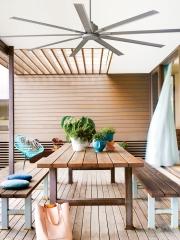 Casa bruno ventilador resort plata
