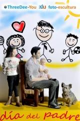 Día del padre - regala sólidas emociones - figuras 3d de threedee-you foto-escultura 3d-u