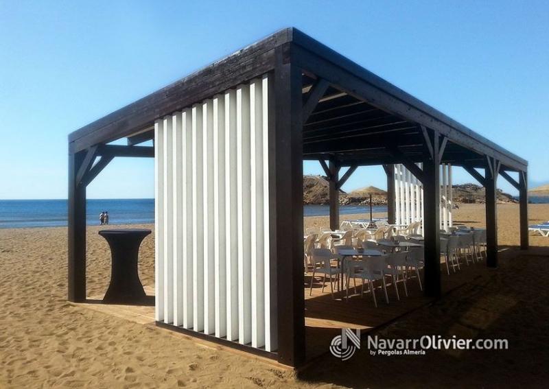 Foto P Ergola Para Terraza De Beach Bar Rn Madera Tratada