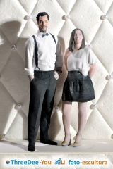 Figuras personalizadas para tarta de novios - threedee-you foto-escultura 3d-u