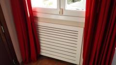 Panel decorativo lacado blanco para hueco radiador