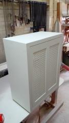 Mueble de baño de madera maciza lacado blanco