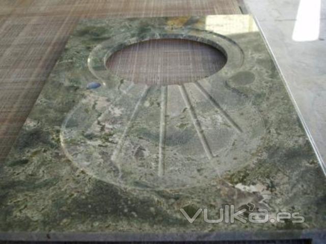 Foto encimera granito de importaci n verde imperial for Granito importacion encimeras