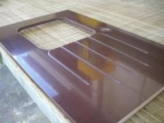 Encimer silestone, dedtalle de encimera de cocina, fregadero pulido para bajo encimera y cinco unidades de ...