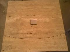 Plato de ducha en marmol travertino trevi modelo