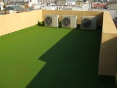 Impermeabilizaci�n transitable de terraza en edificio de viviendas.
