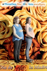 Día de la madre - tu mamá te mima, mímala - figuras en 3d de threedee-you foto-escultura 3d-u