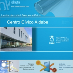 lamina solar Centro Cívico Aldabe-Vitoria . Rotulos Oketa