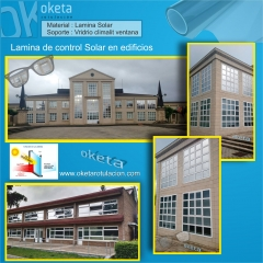 lamina solar Academia Arkaute-Vitoria.  Rotulos Oketa