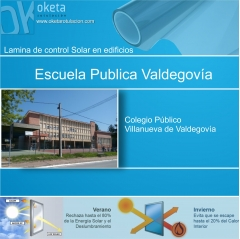 lamina solar Colegio Valdegovía- Alava . Rótulos Oketa
