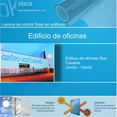 lamina solar empresa Ros Casares Jundiz-Vitoria. Rotulos Oketa
