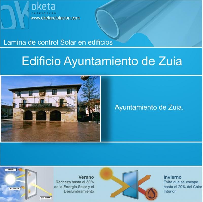 lamina solar Zuia-Alava . Rotulos Oketa