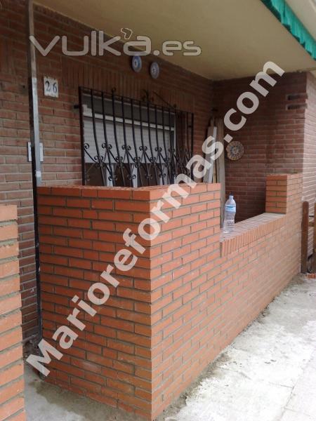 Foto muro ladrillo visto en torrejon de velasco - Muros de ladrillo visto ...