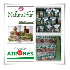 Especias y  Bolsas de plantas