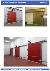Puertas carrederas de cameras frigorificas