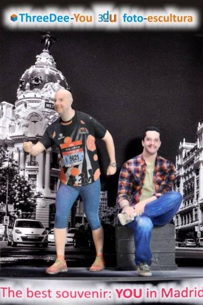 Souvenir personal de Madrid - Tú en 3d - ThreeDee-You Foto-Escultura 3d-u