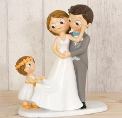 Figura tarta novios con niña