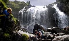 Slu - madrid enjoy the beautiful waterfalls in the pyrenees.