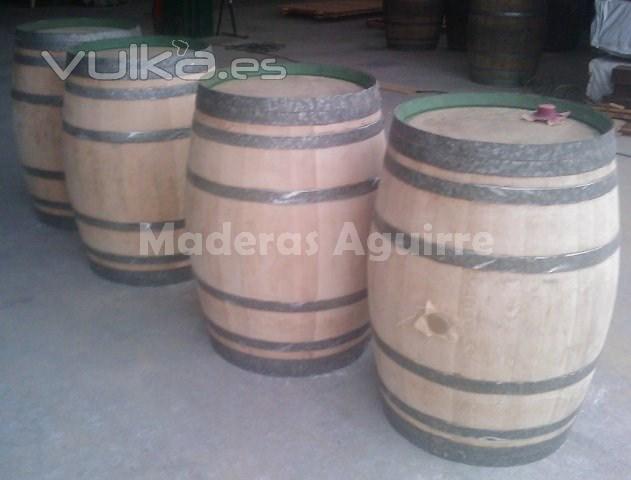 Foto barricas de roble americano usadas - Maderas aguirre ...