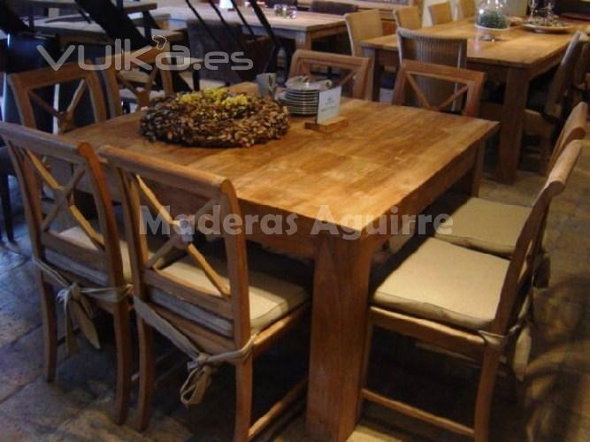 Foto muebles de pino radiata y teca recuperada indonesia for Muebles de indonesia
