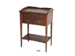 Mueble con 5 cajones y estanter�a en color nogal.