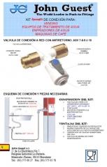 Llave asv, para vending,fuentes y equipos de osmosis