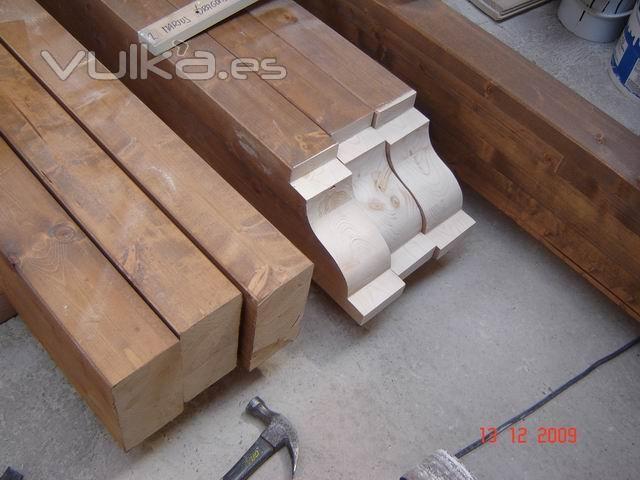 Foto detalle kit pergolas madera laminada pergola - Vigas madera precios ...