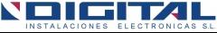 Logotipo y texto de digital instalaciones