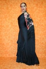 Vestido de baile.flamenco,8 volantes en cascada