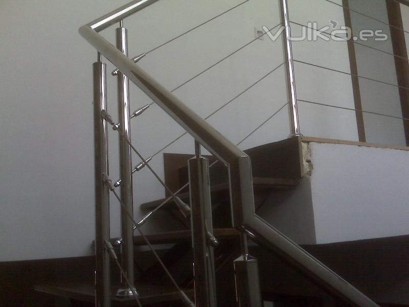 Barandas pasamanos escaleras enchapados en acero - Pasamanos escaleras acero inoxidable ...