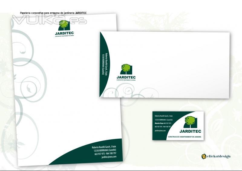 Foto jarditec empresa de jardiner a logotipo y for Empresas de jardineria