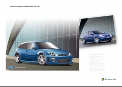 Ford focus rs - ilustraci�n vectorial con freehand a partir de foto original, con peque�as modificaciones de ...