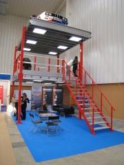Altillos de varias plantas con l�mparas tecro que optimizan el espacio y abaratan la instalaci�n