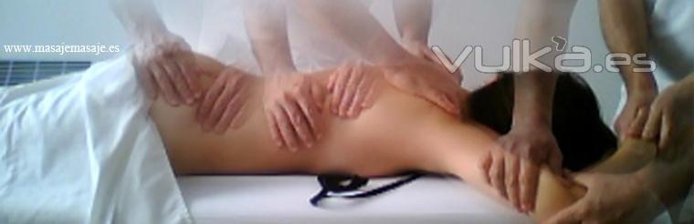 Fotomontaje sesi�n de masaje