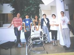 Alumnos de carlos roces, en el museo barjola