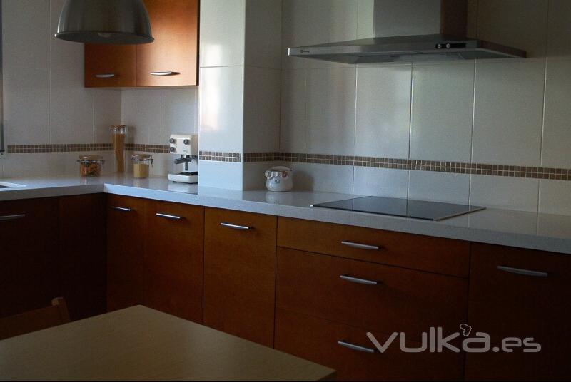 Foto encimera de cocina en silestone montblanc - Encimeras de cocina silestone ...
