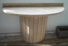 Mesa/recibidor en travertino romano