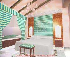 Infografia proyecto de decoracion total de vivienda en zona residencial puerto marina , benalmadena