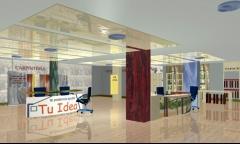 Infografia de interior local comercial destinado a instalaciones comerciales