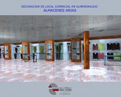 Infografia para proyecto de remodelacion ejecutada en local comercial