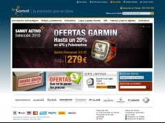 Página principal de la tienda online www.samot.es