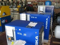 Compresores aire. puska tornillo de 20, 40 y 50 cv.