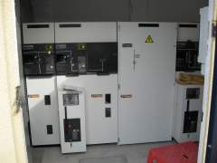 Celdas schneider. montaje de celdas en un c.t. 2x1600 kva.