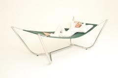 Muebles de exterior: hamaka de jardin / hamaca de terraza skybed single, acero inox., tejido micro rejilla ...