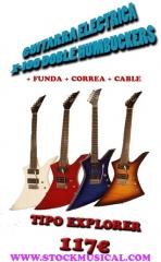 Guitarra electrica tipo explorer
