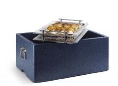 Caja con bandejas surtidas para servicio a domicilio