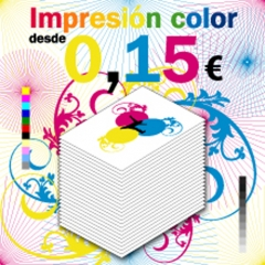impresion color A4 dde, 0,15EUR, impresion digital
